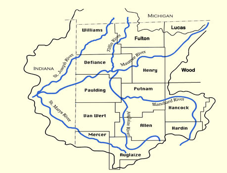 The Maumee watershed includes parts of Indiana, Ohio and Michigan.