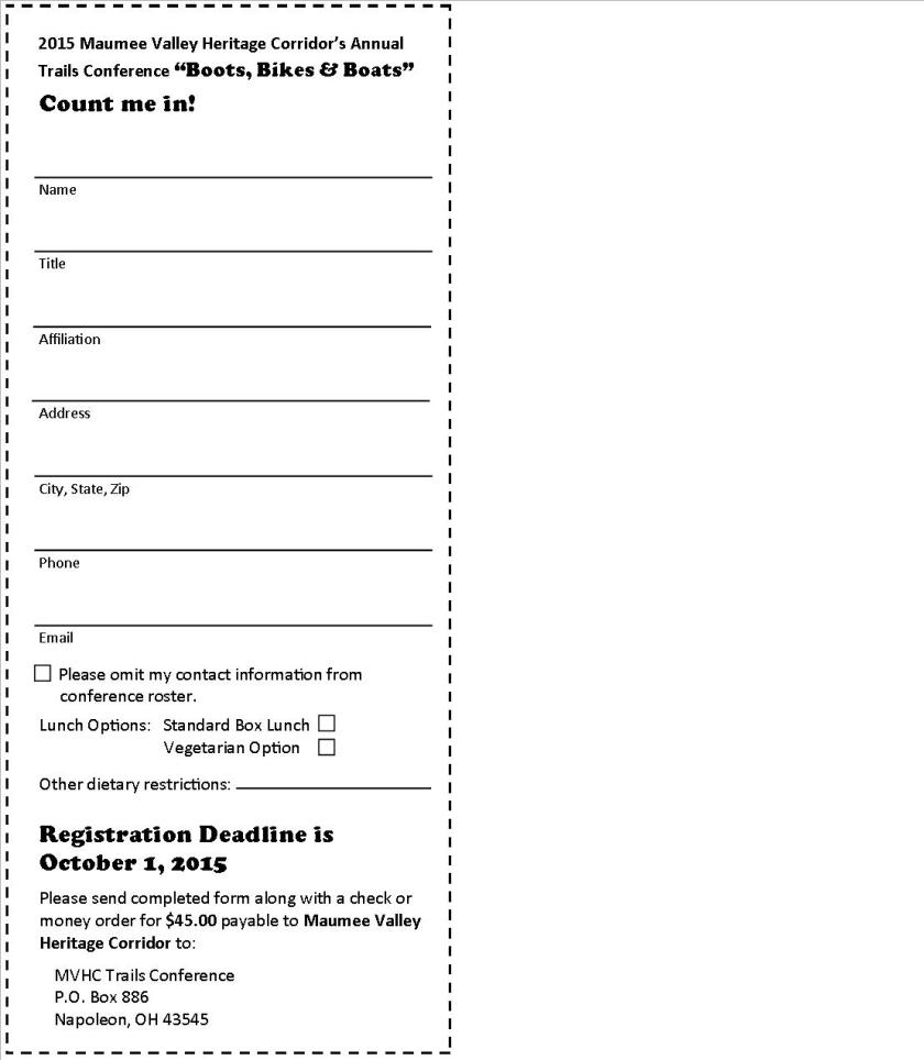 Electronic Conference brochure Registration Form  FINAL